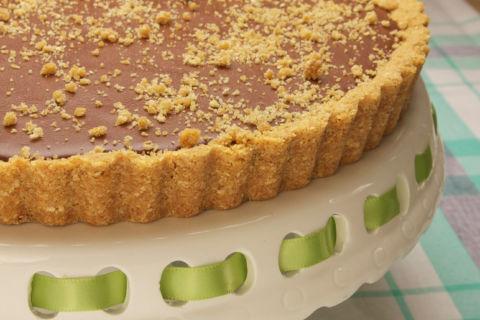 Mayim's Vegan Table Chocolate Peanut Butter Pie