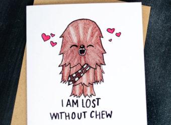 Chewbacca Valentine's Card