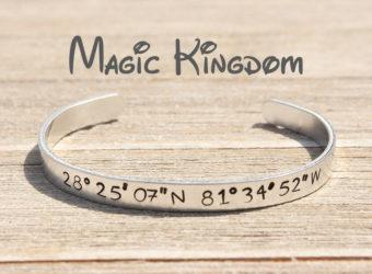 Magic Kingdom coordinates bracelet