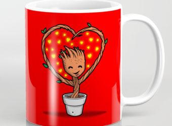 Baby Groot Valentine's mug