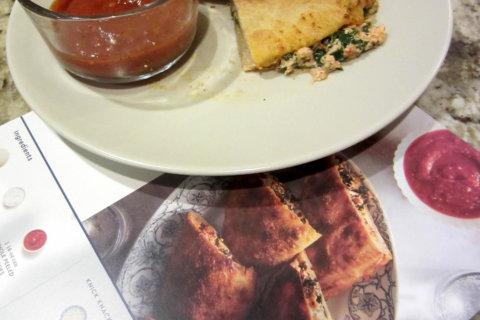 Blue Apron: Three Cheese Calzone