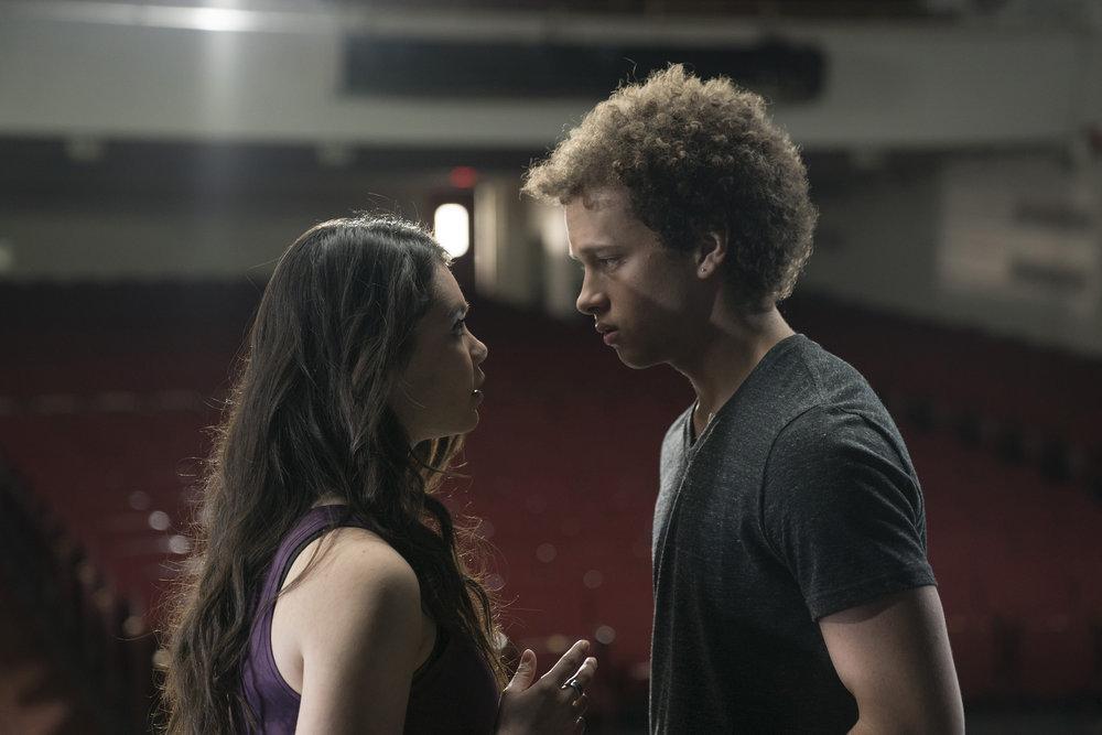 Auli'i Cravalho as Lilette Suarez and Damon J. Gillespie as Robbie Thorne in 'Rise' pilot