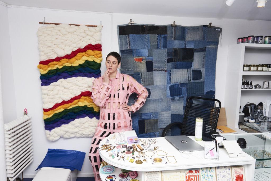 Rachel Berks in her store