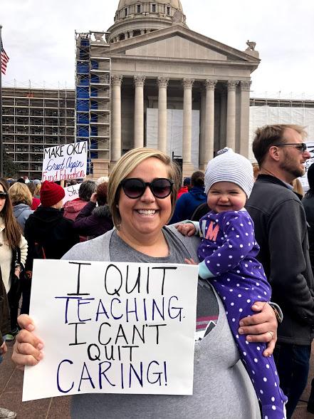 Emily Wilson Taylor at the Oklahoma teacher walkout