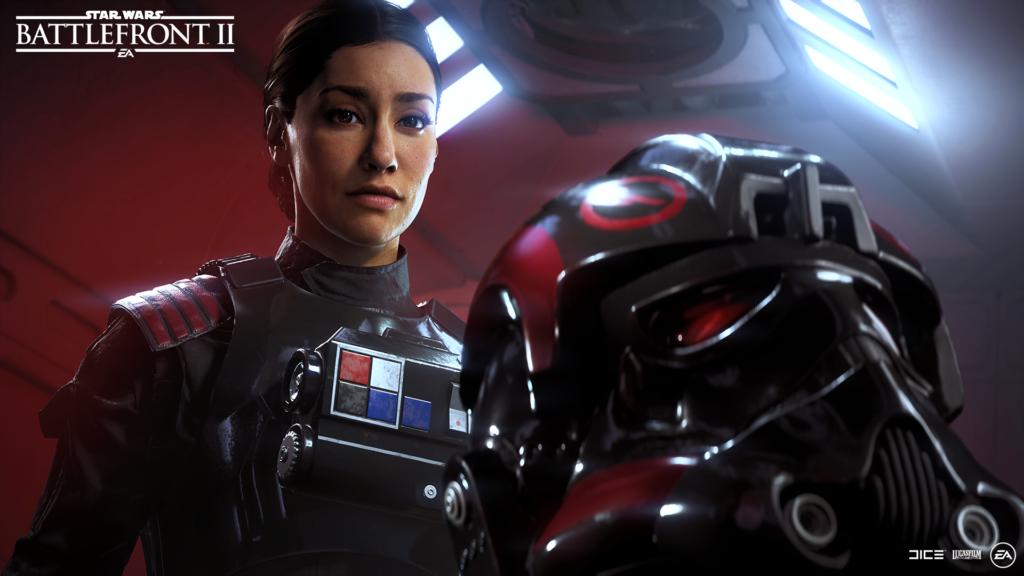 Screenshot of Iden Versio from Star Wars: Battlefront II