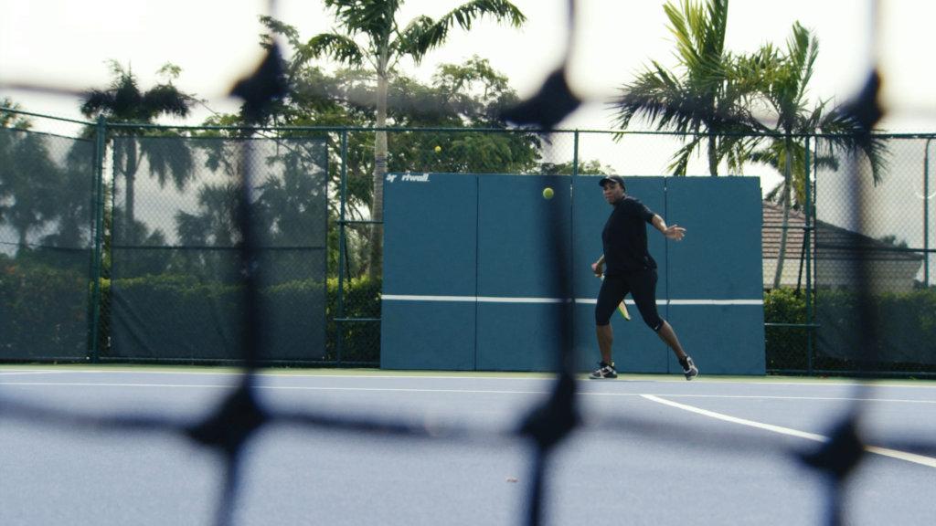 Being Serena still of Serena Williams playing tennis