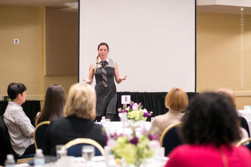 Angelia Lussier sharing knowledge at her Speaker Sisterhood tour in 2018.