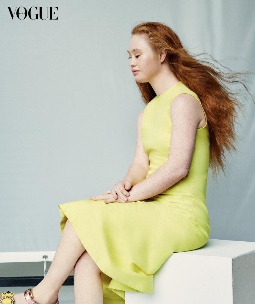 Madeline Stuart in a Vogue Australia shoot