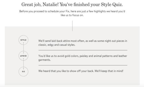 Stitch Fix review Style Profile