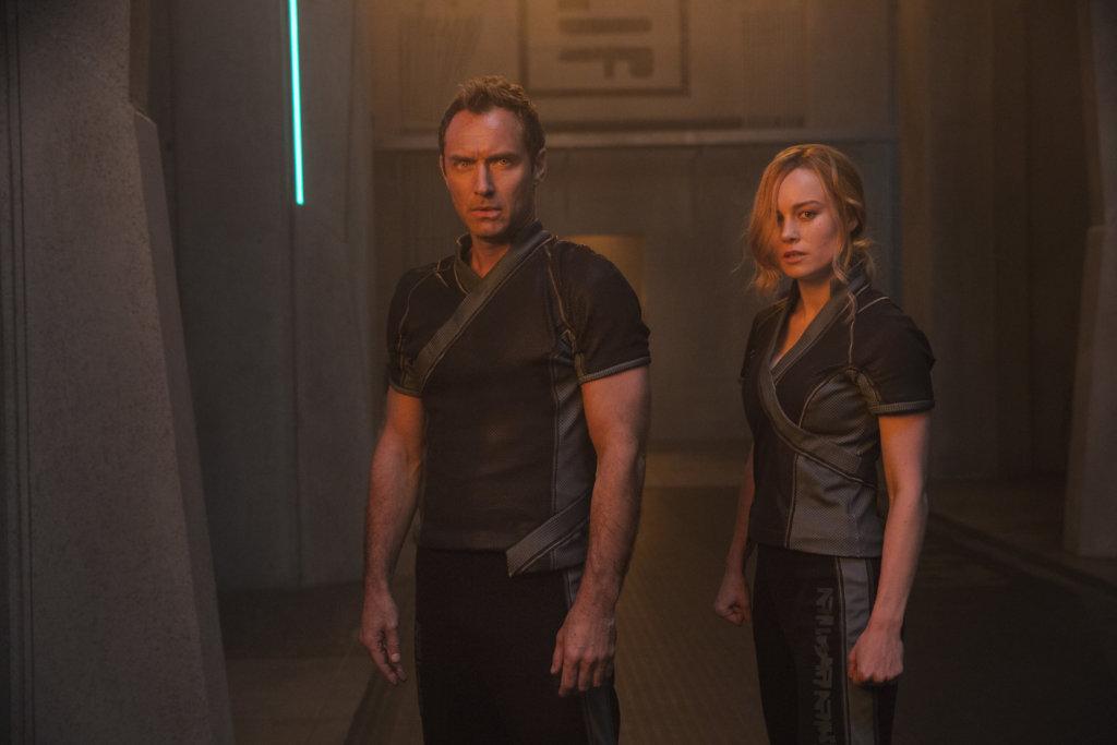 Leader of Starforce (Jude Law) and Carol Danvers/Captain Marvel (Brie Larson) in 'Captain Marvel'