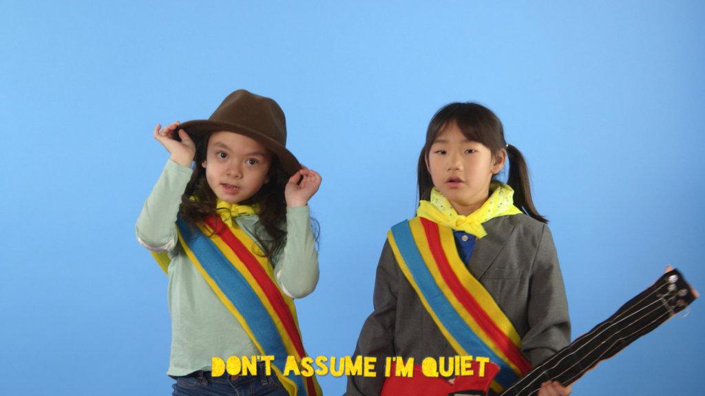 Two girls in the web series Radical Cram School