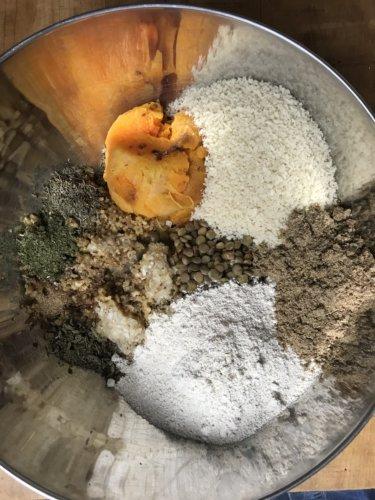 Veggie loaf ingredients