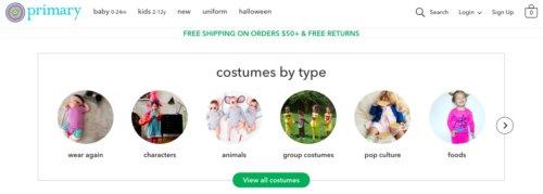 Primary Halloween costumes