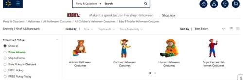 Walmart Halloween costume