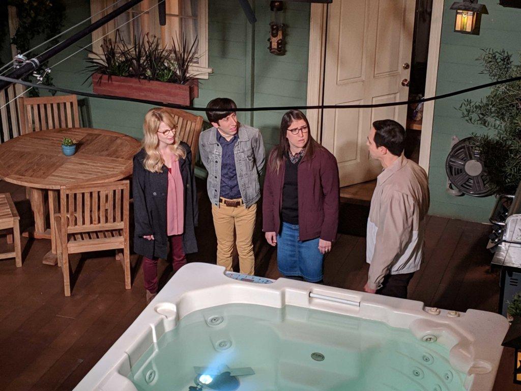 Mayim on a pre-tape day of Big Bang Theory season 12