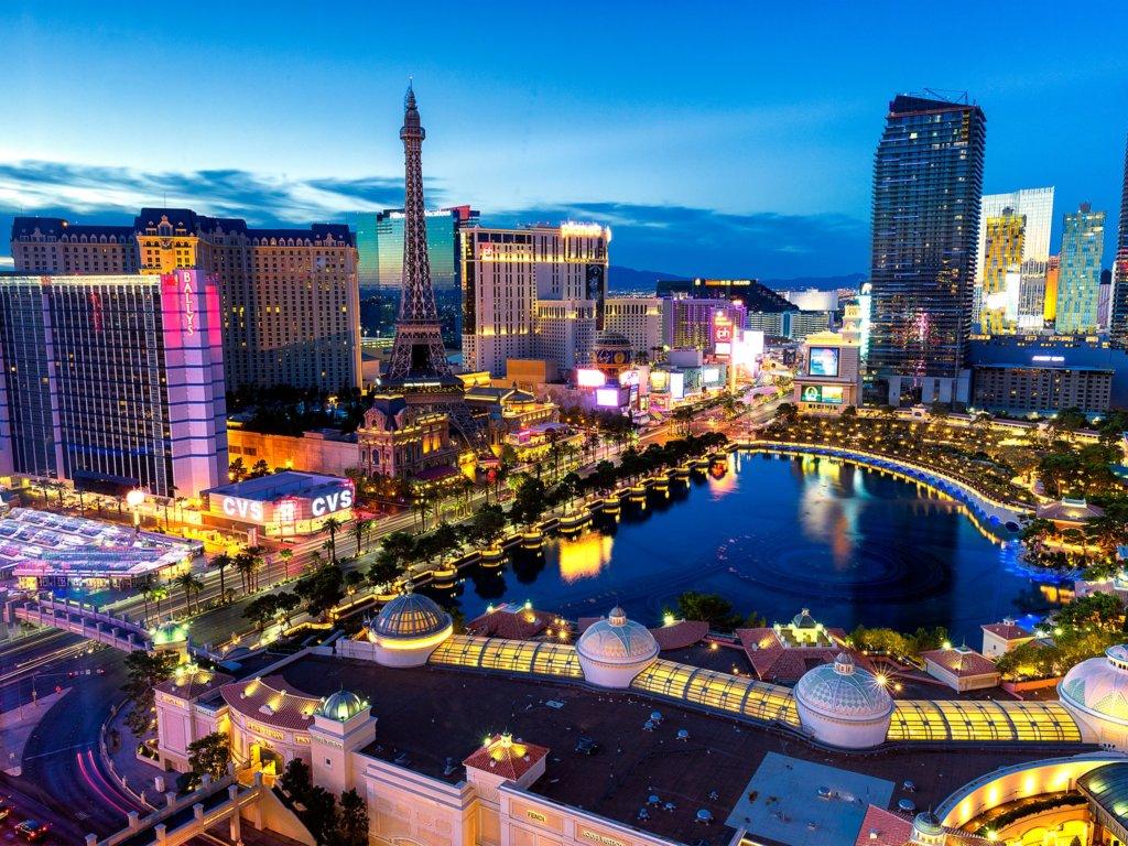 Las Vegas aerial shot