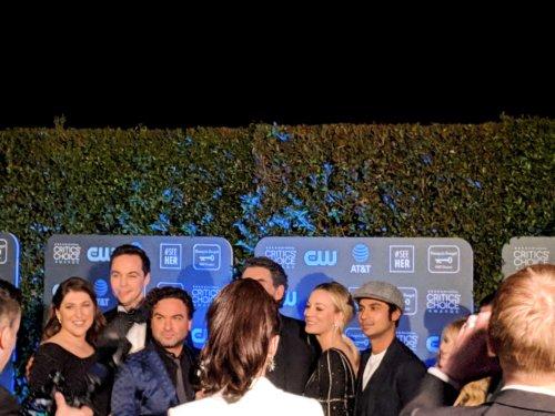 The Big Bang Theory cast backstage at the 2019 Critics' Choice Awards